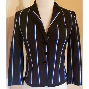 Club Monaco Blazer Jacket Black Blue Stripe
